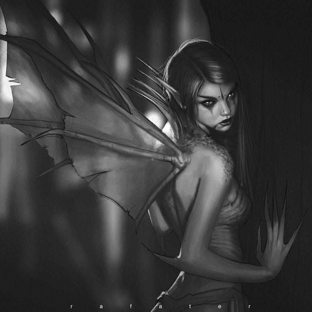 Rafael teruel dark fairy by rafater