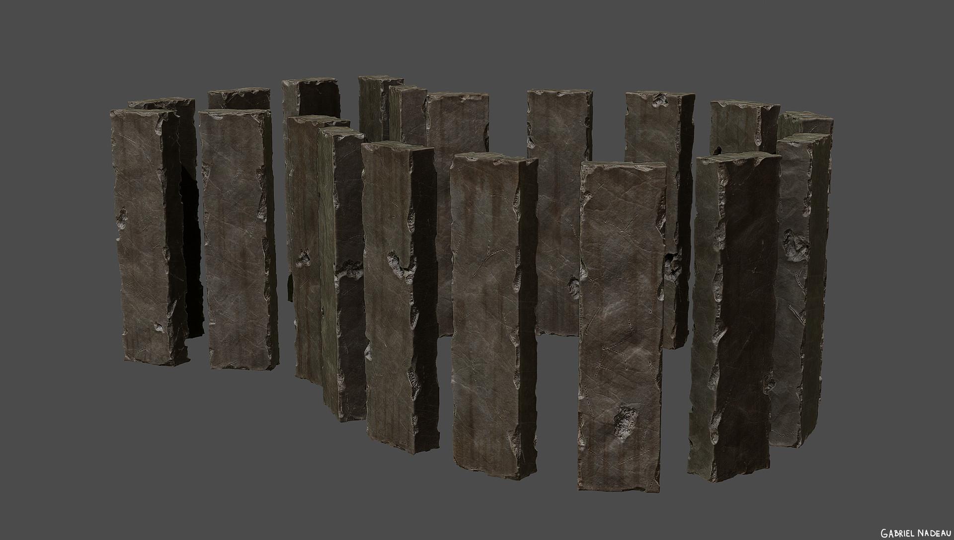 Gabriel nadeau zbrush piliers