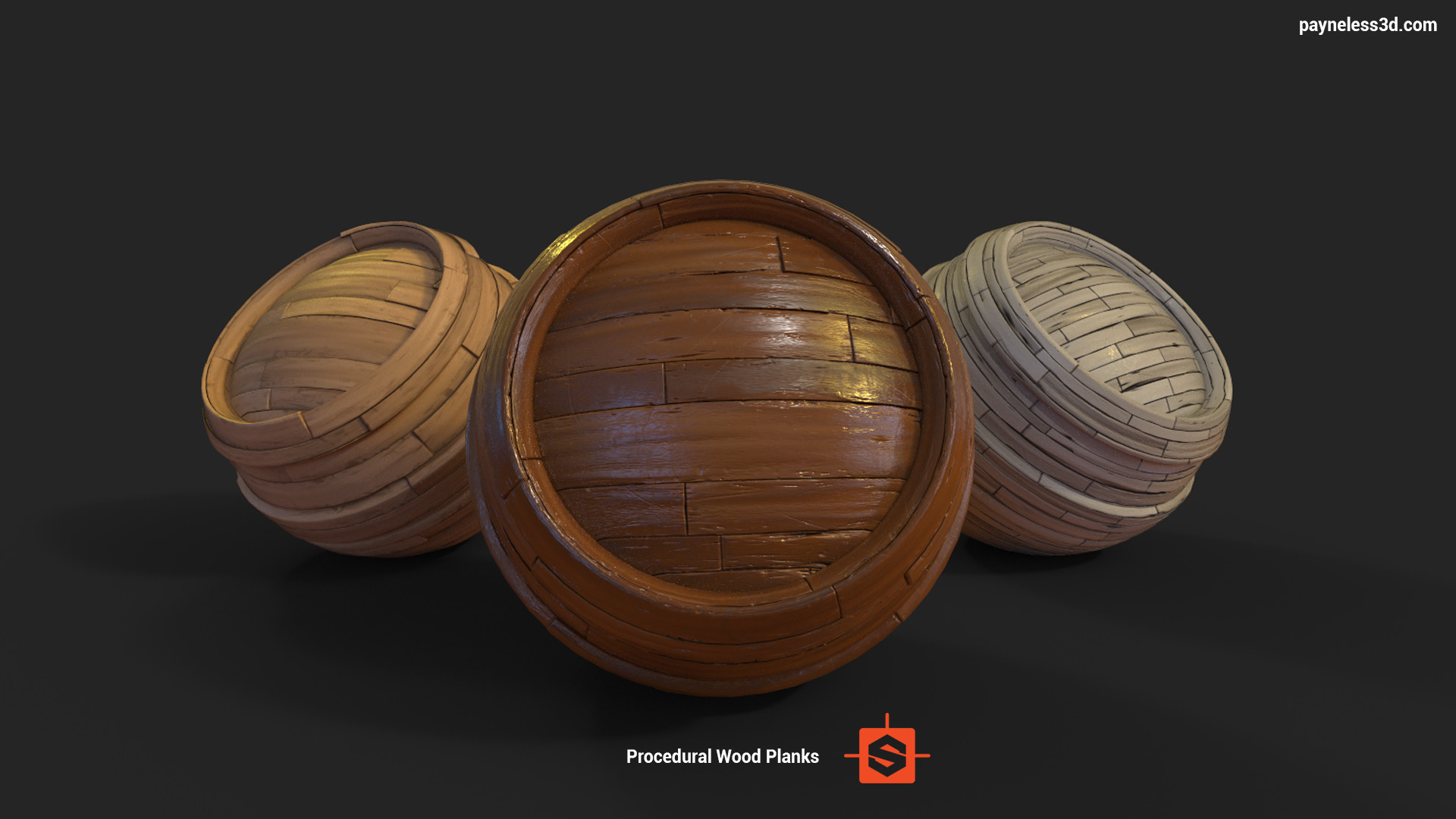 Procedural Worn Wood Planks Material