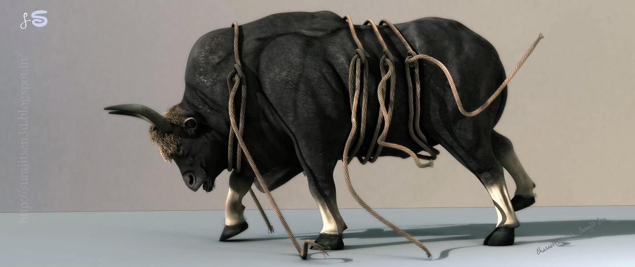 Surajit sen gaur bull surajitsen india col