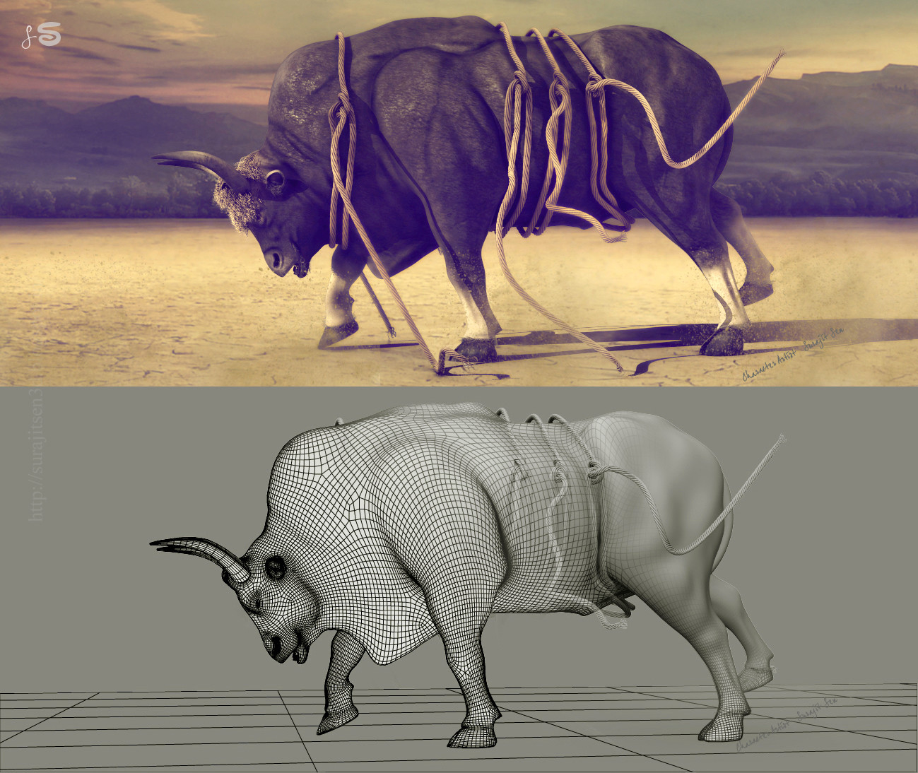 Surajit sen gaur bull surajitsen india pose