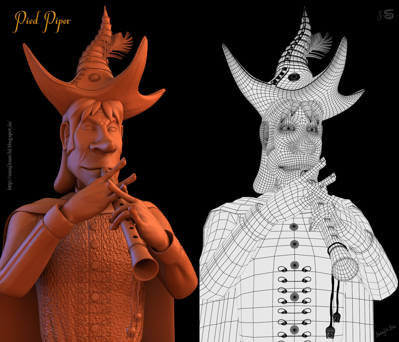 Pied Piper-- 3D Character by Surajit Sen