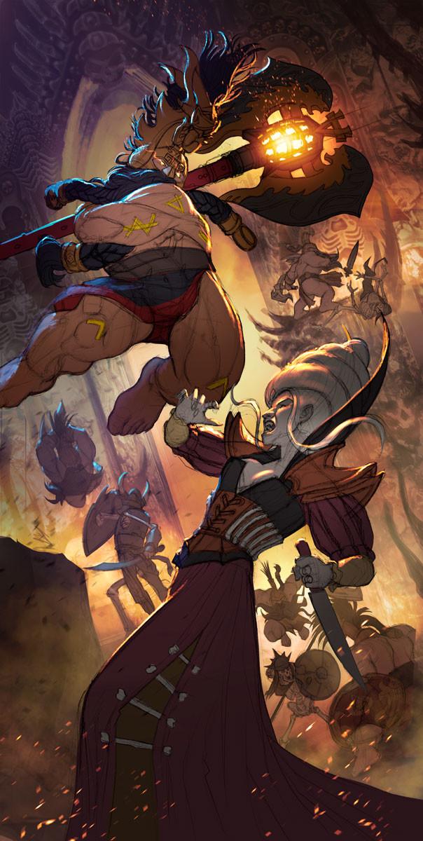 Rafael teruel grimwrath berserker vs vampire 4 color 2e copy by rafater