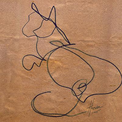 Hal hefner grady blind contour drawing 2
