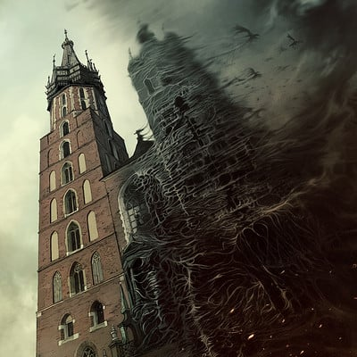 Mateusz lenart medium poster cracow towers m