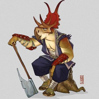 Alberto camara diabloceratops warrior2