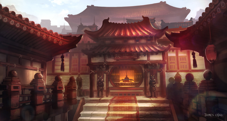 Artstation Chinese Palace Entrance James Chao