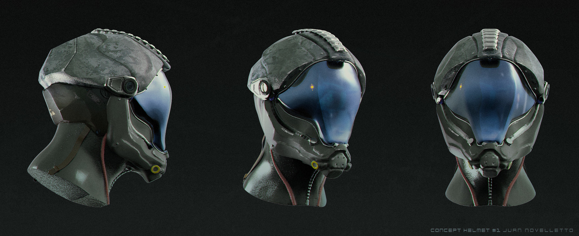 Juan novelletto sci fi helmet design for Sci fi decor