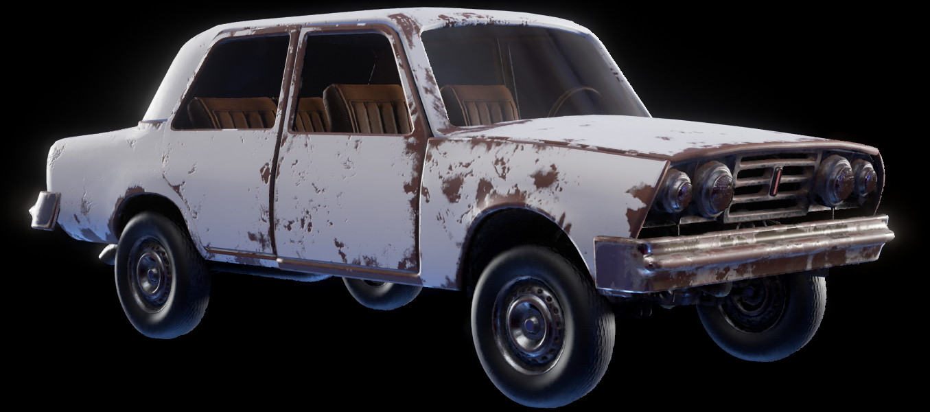 ArtStation - Destructible Car in UE4, Dries Deryckere
