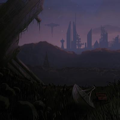 Jeff hoffman futuristic wasteland concept art