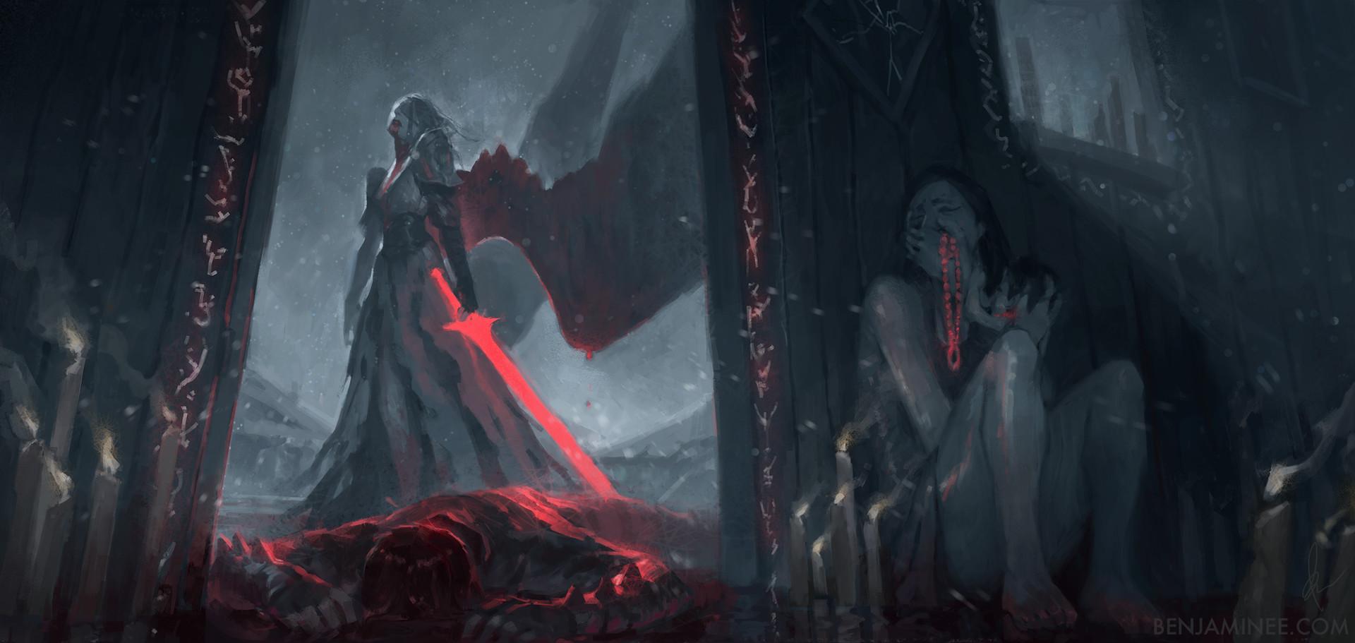 Benjamin ee angel of the bloodied dance