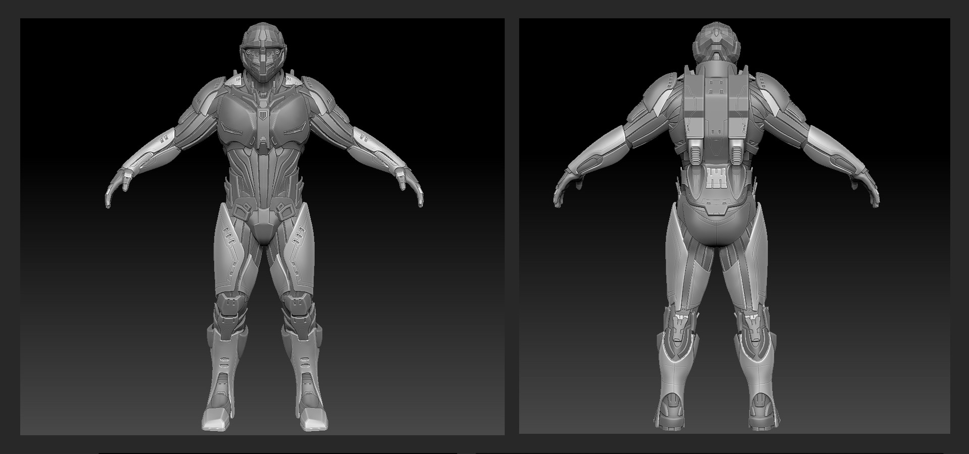 High resolution body mesh by me. Helmet by Andrew Westwood.