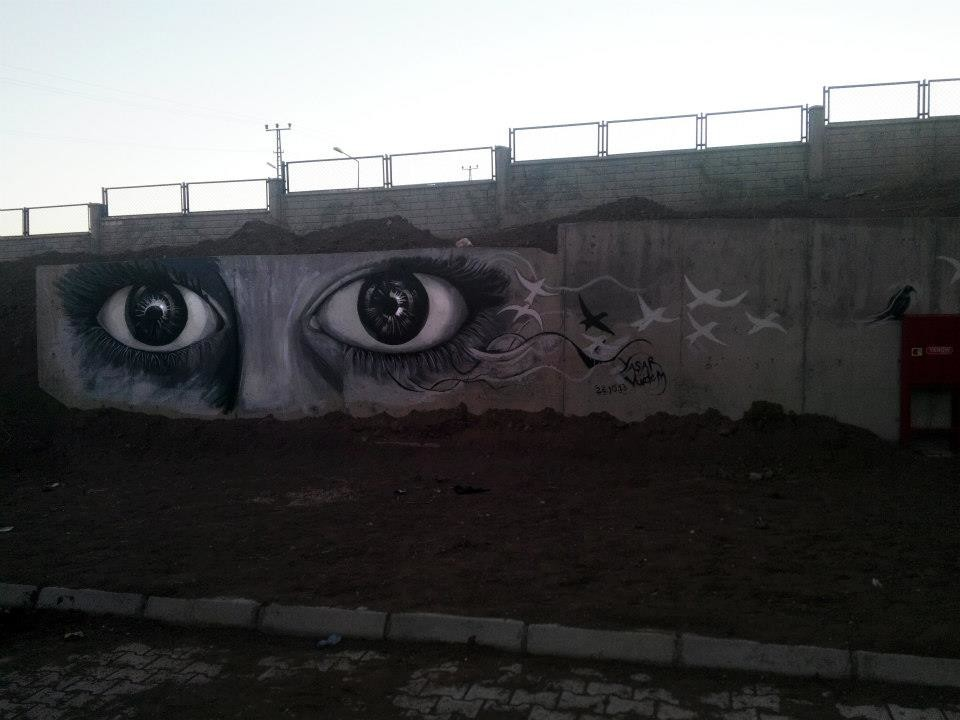 Yasar vurdem from 2013 at my old school s wall eyes of wall by vurdem d9afqey