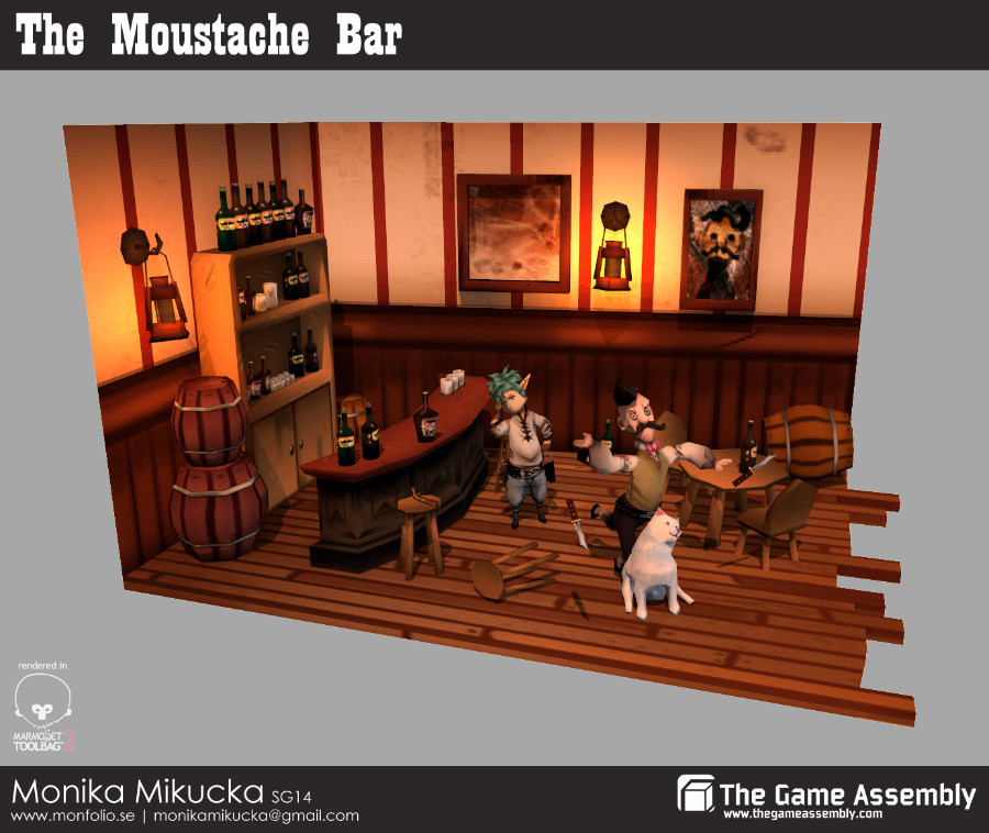 The Moustache Bar - 3D lowpoly project