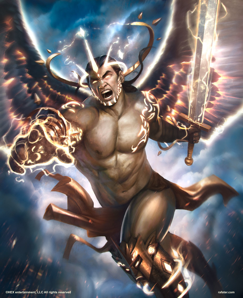 Rafael teruel hex tcg 01 angel of glory by rafater