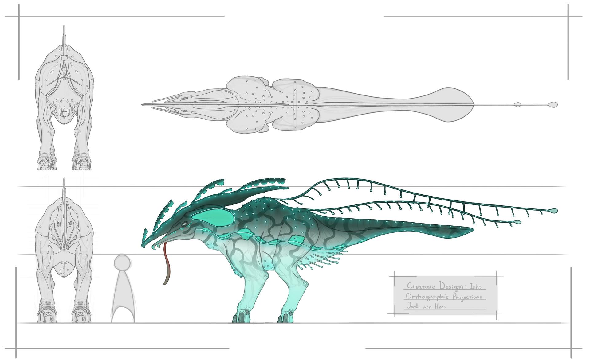 Jordi van hees concept art monster color ortho projection presentable done