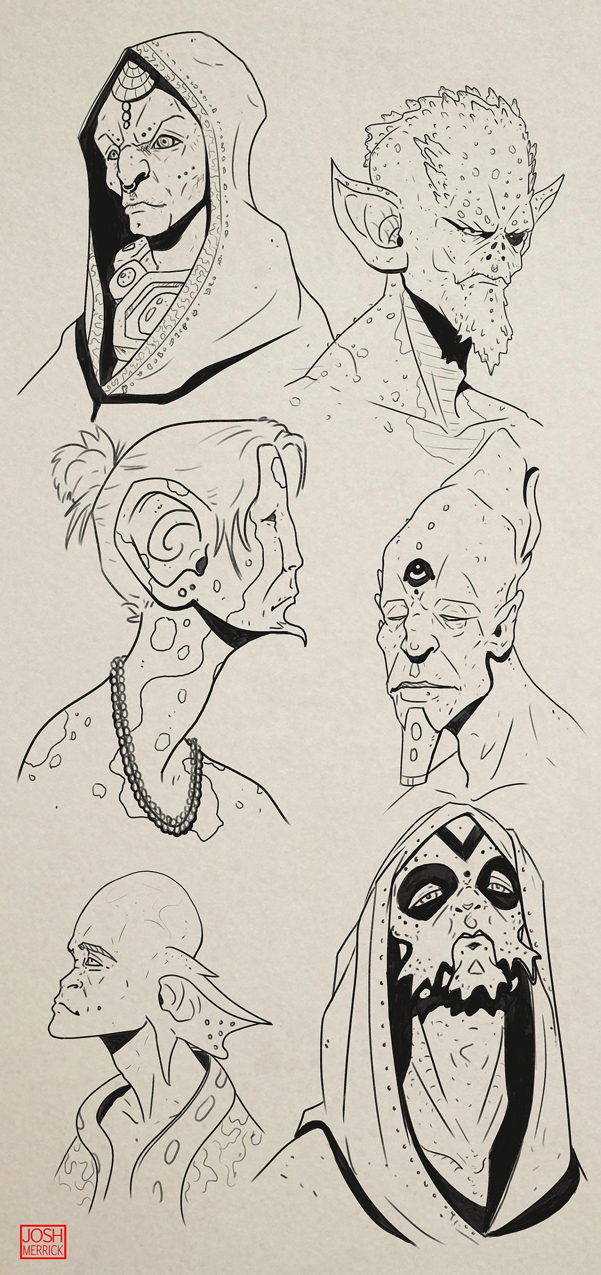 Josh merrick alien faces2