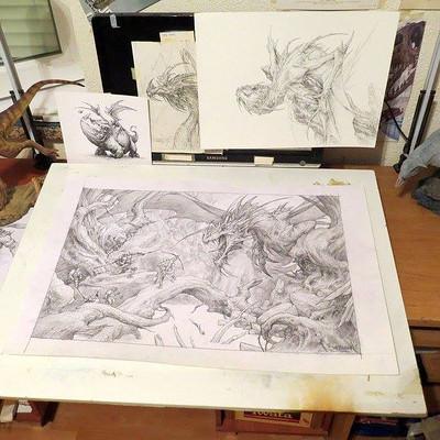 Burburan studio wip 3 private commissioned painting burburanstudio