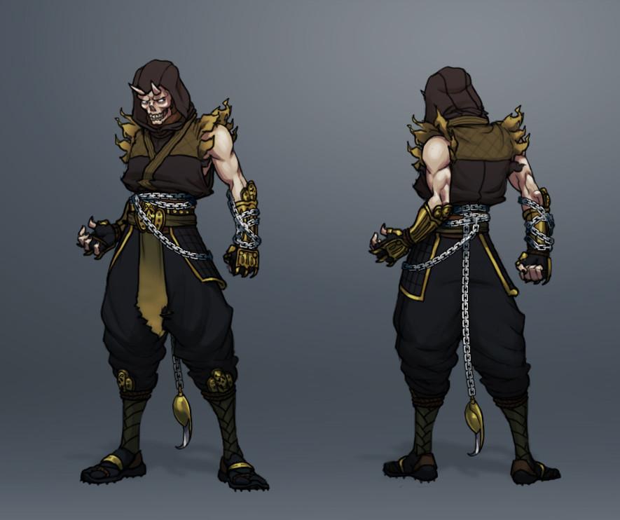 Artstation Mortal Kombat Character Designs Fan Art Josef Axner