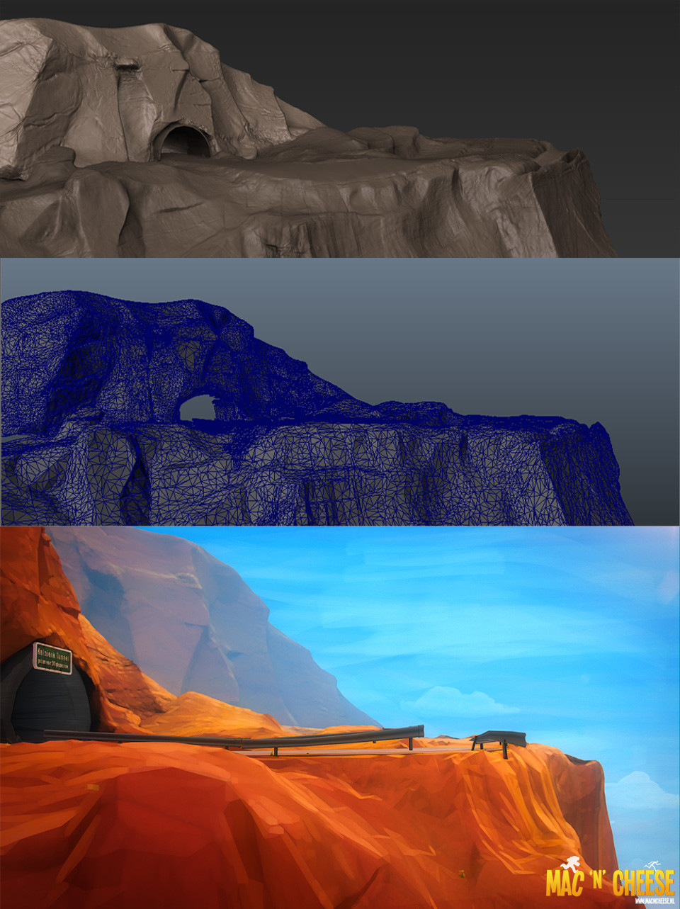 I did all the environmental work, mostly in Zbrush