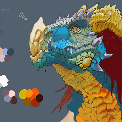 Charles hamel khymera dragonportrait by khymera arts d7wnnie