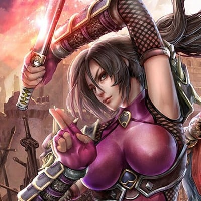 Jeremy chong soul calibur lost swords taki mitsurugi artwork