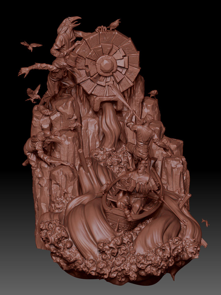 James w cain guardians zbrush