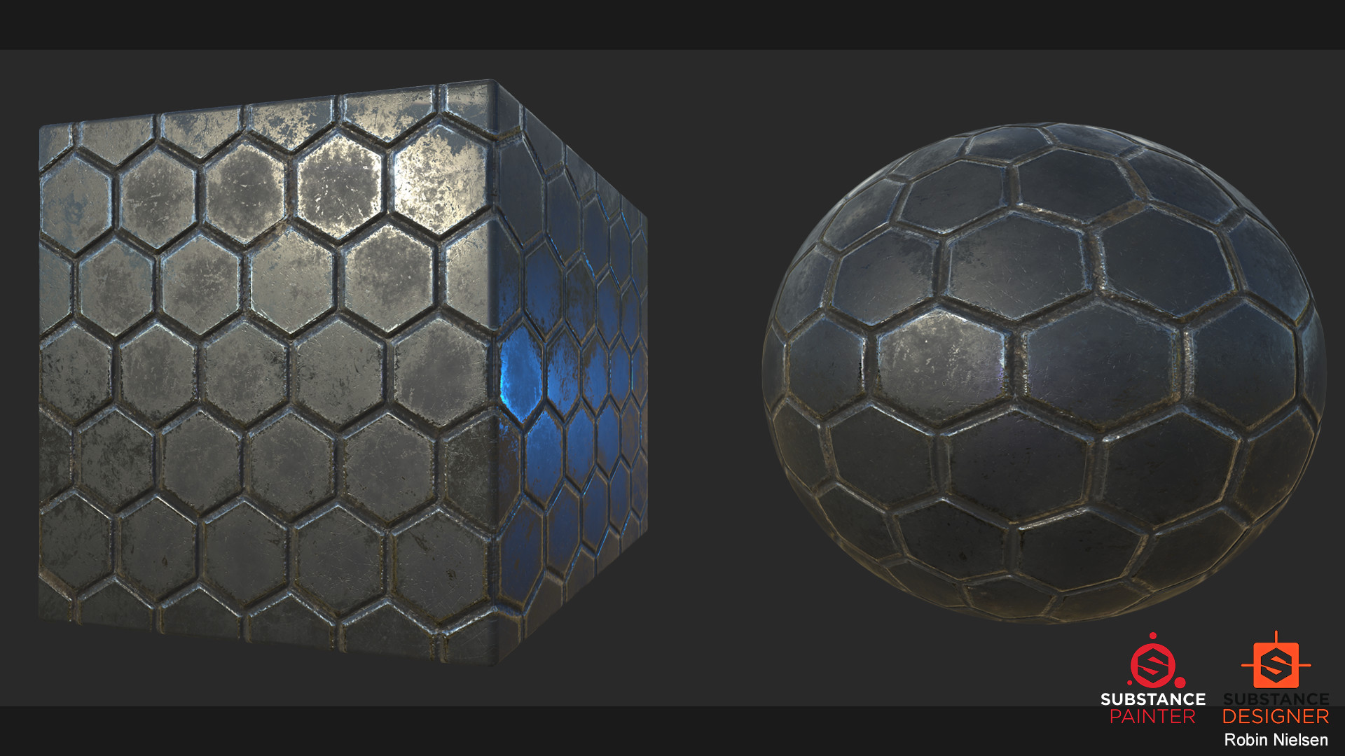 Artstation Scifi Hexagon Tiles Robin Nielsen
