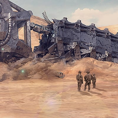 Tomislav zvonaric cyber snake wreck in the dessert low res