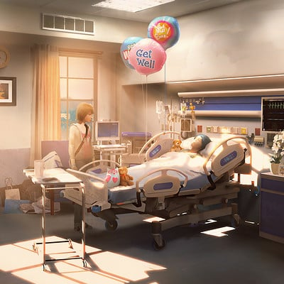 Gary jamroz palma hospital room artstation