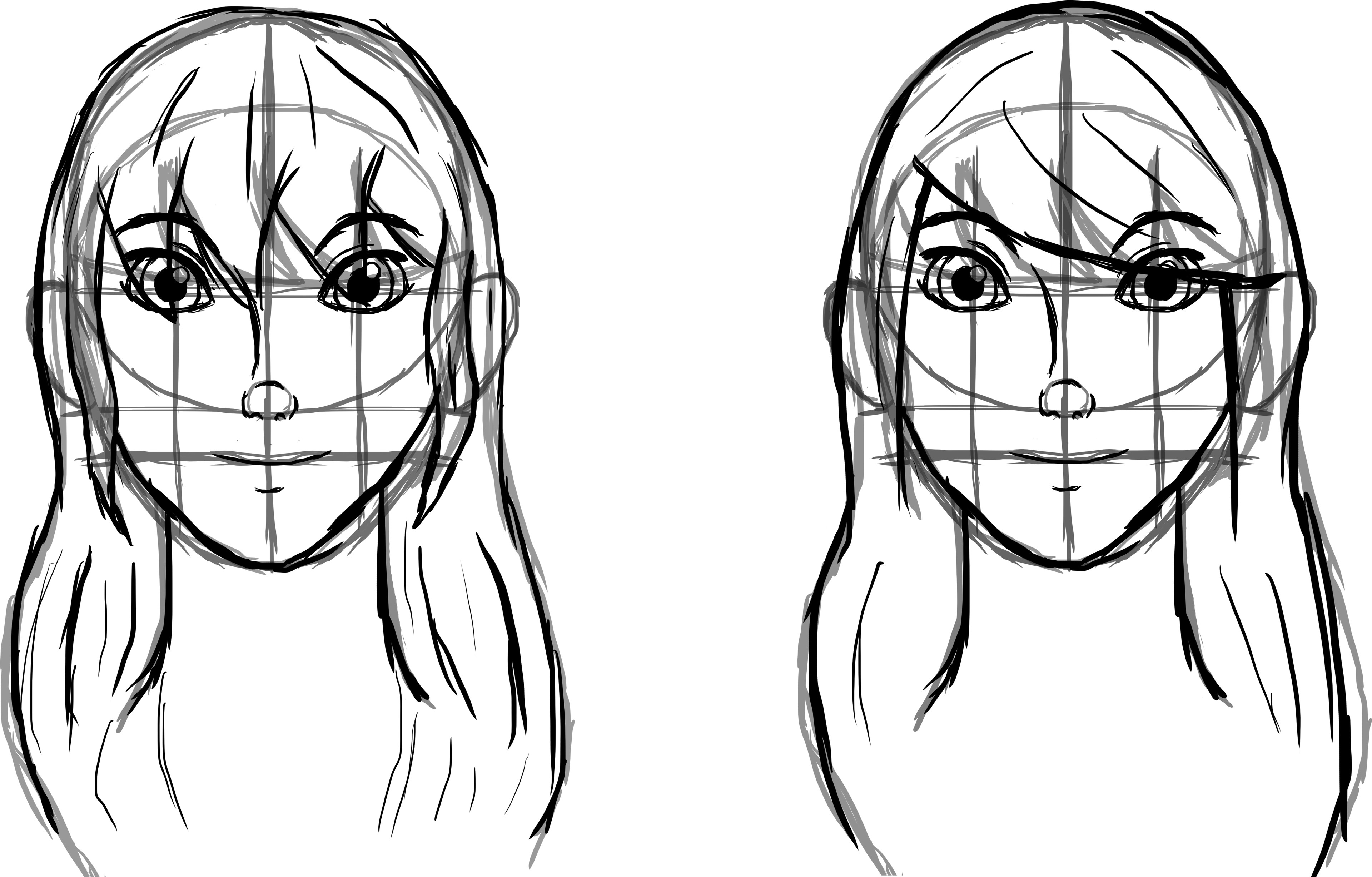 Front face Sketches