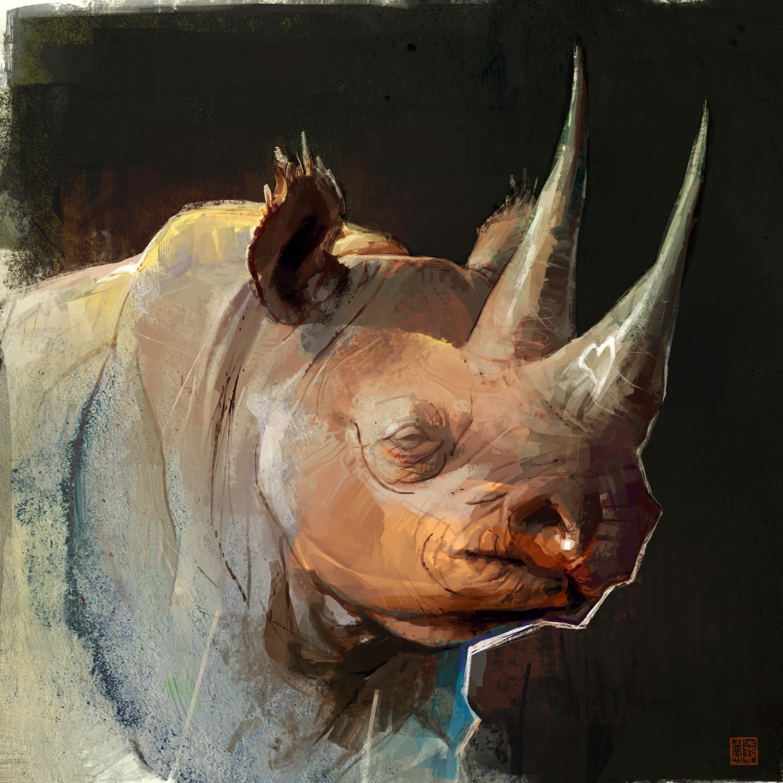 Black rhino speedpainting