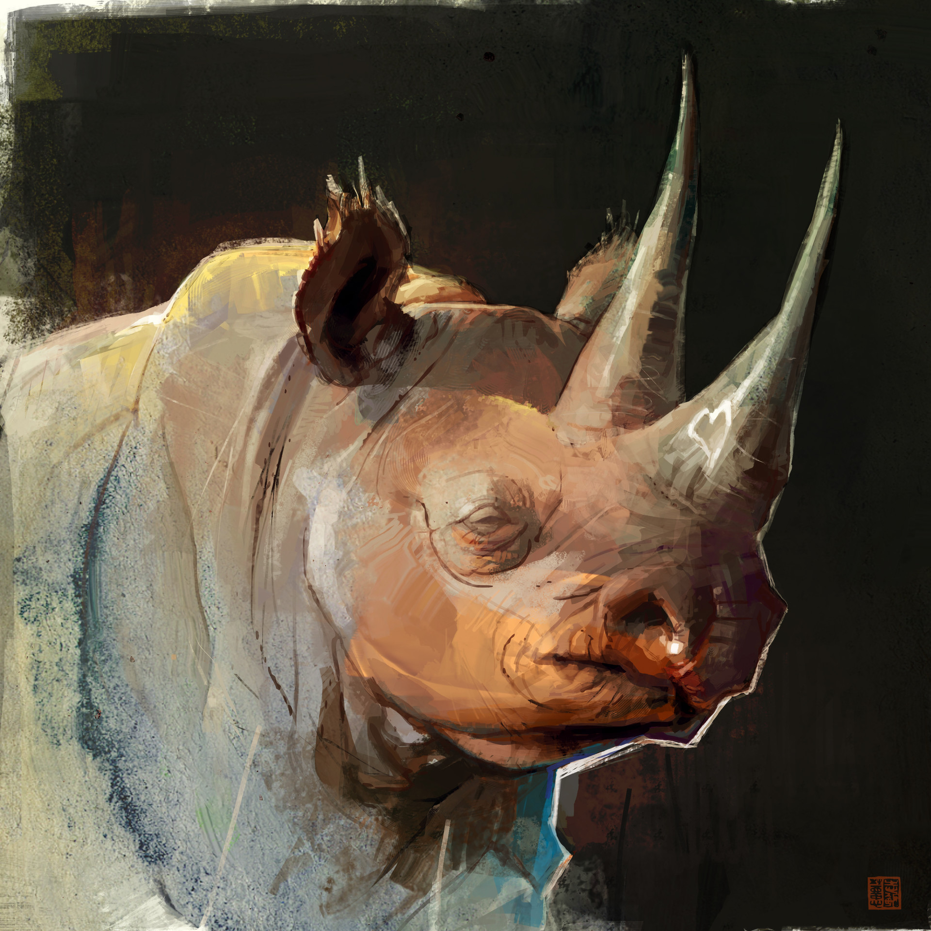 Black rhino speedpainting