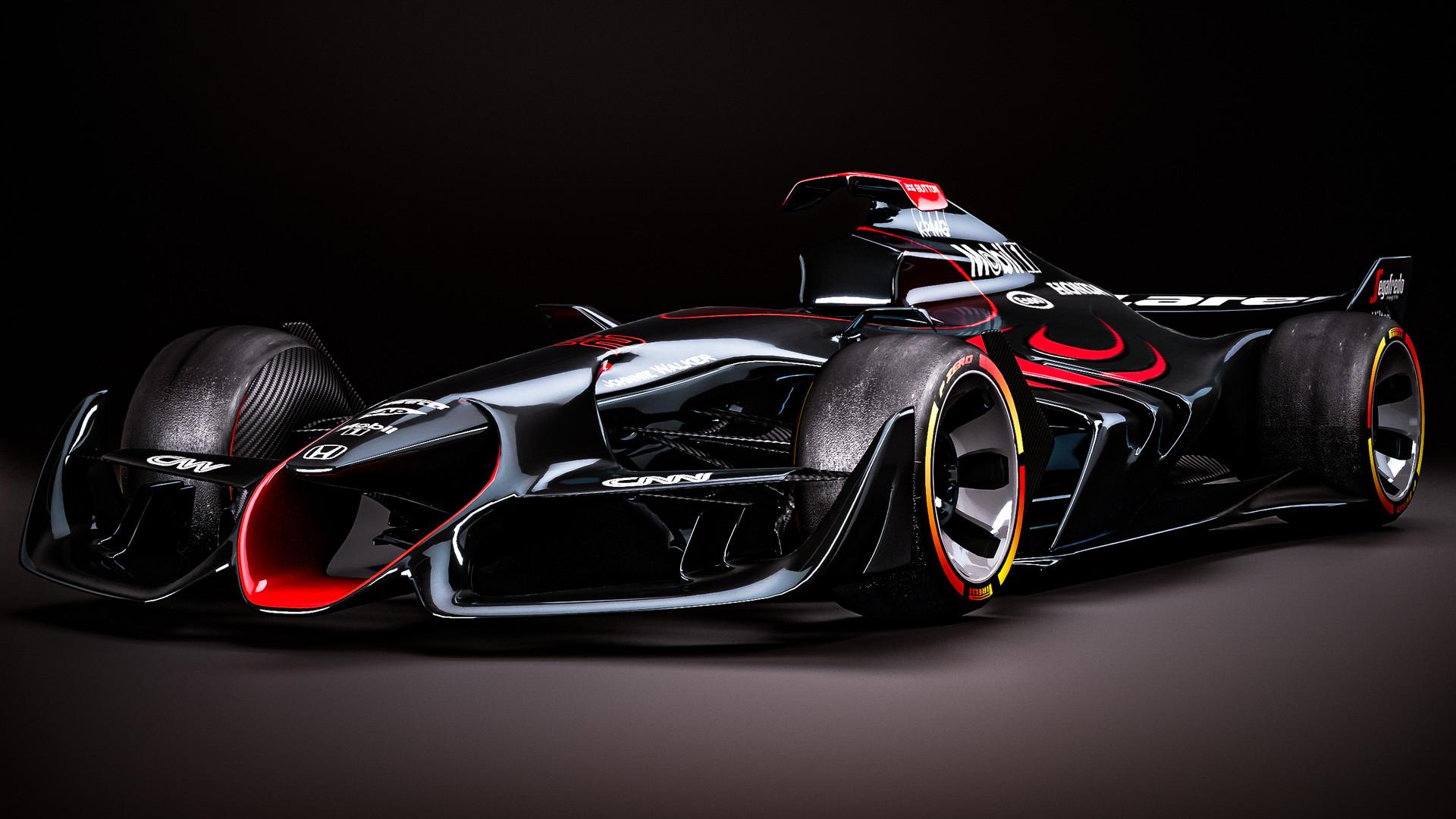 ArtStation , McLaren Honda livery (Button),Ferrari F1