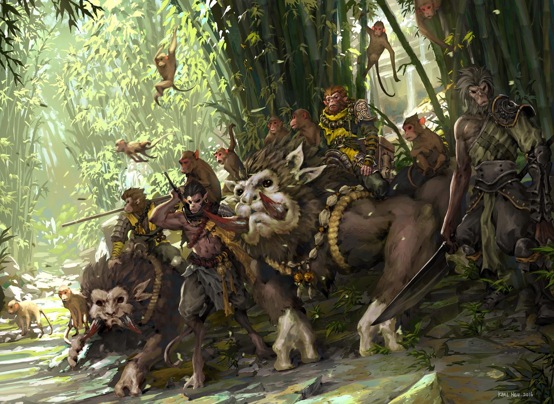 Kael ngu speedpaint 20160202 monkeys