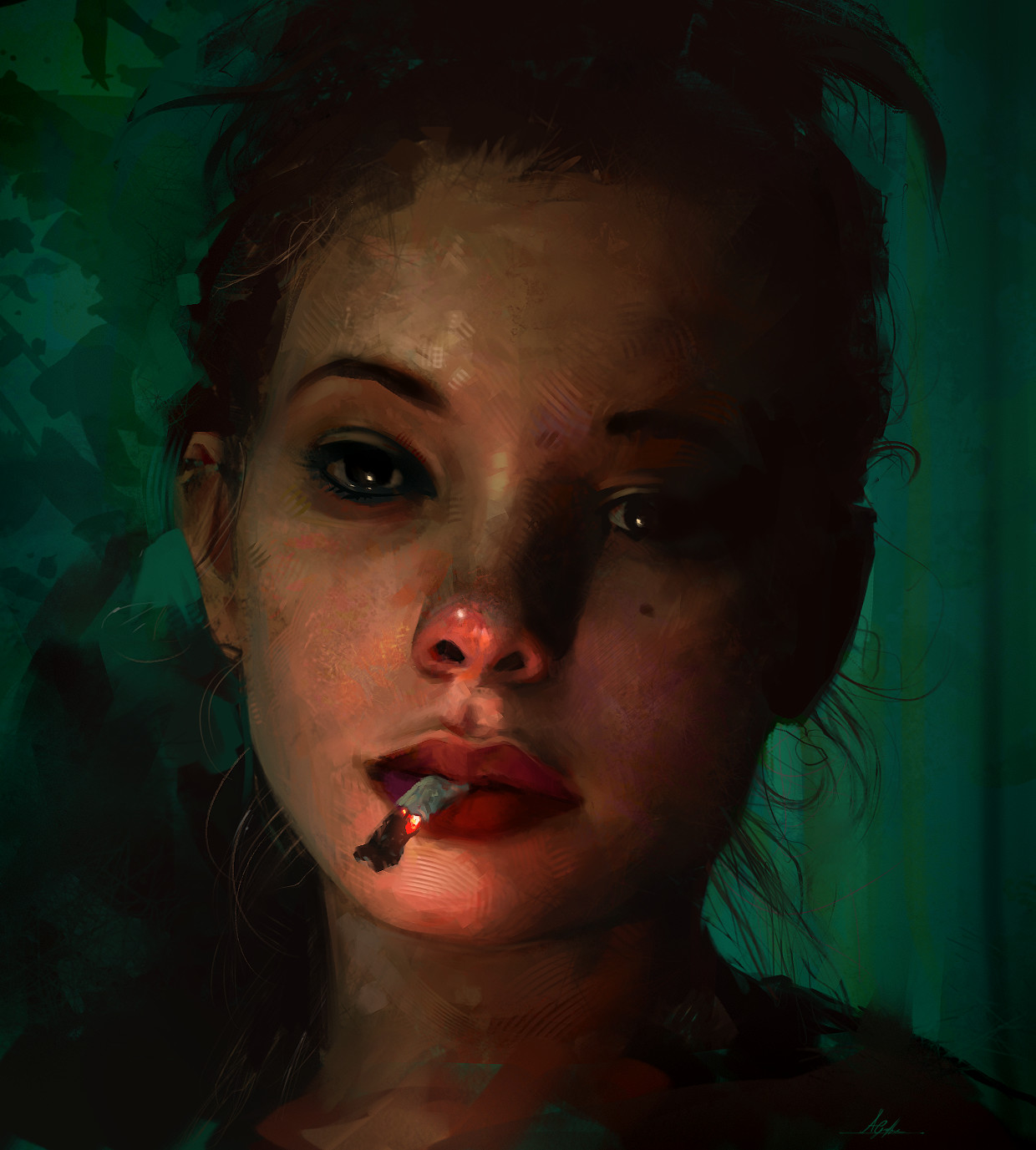 Aaron griffin cigarette portrait