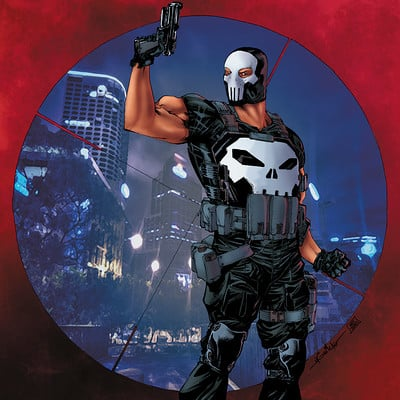 Matt james punisher mask by mattjamescomicarts d9qoe0s