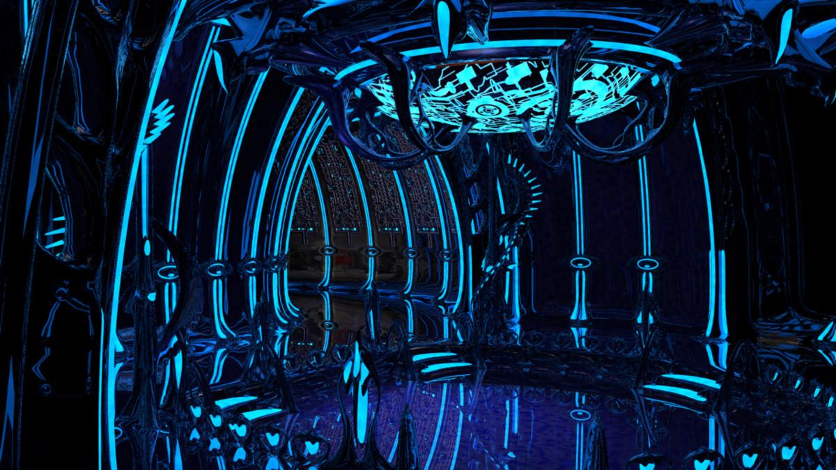 Alien Spaceship Interior