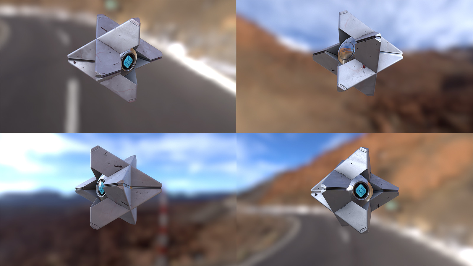 """Fanart """"Ghost"""" from the Game Destiny, i just love this model design! modelled in 3ds max and rendered in Marmoset.  hope you like it!"""