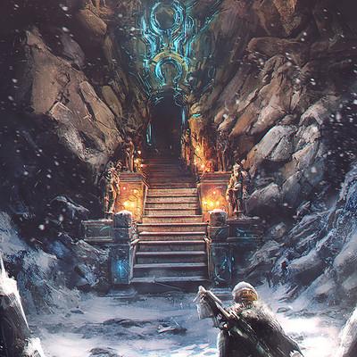 Roland sanchez scifi cave