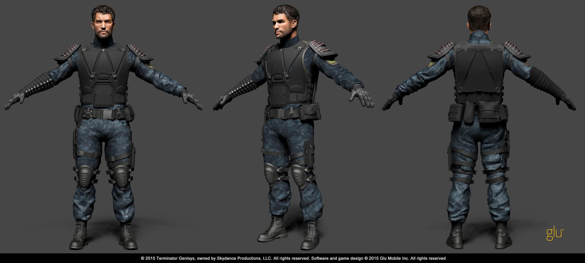 Artstation Terminator Genisys Mobile Game Mohammed Anuz