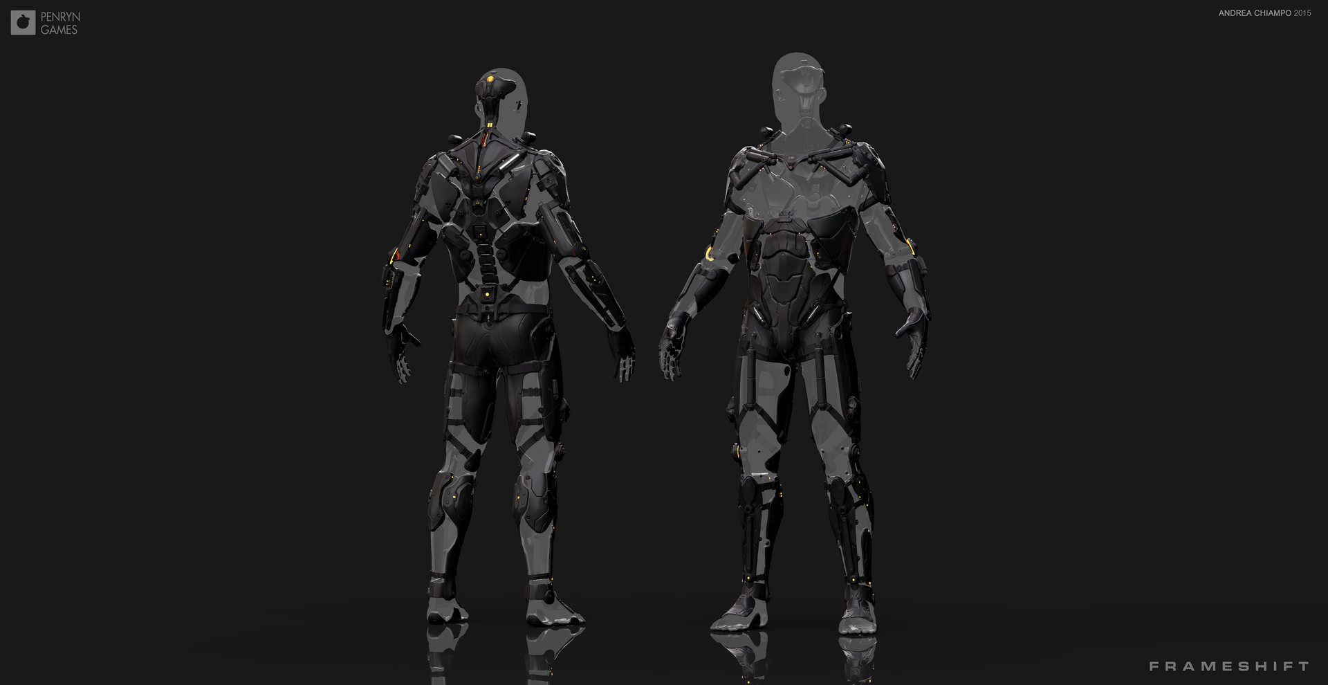 Andrea chiampo exoskeleton character perspective images b
