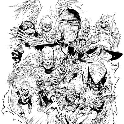 Matt james all new all different zombie x men by mattjamescomicarts d9rfrj5