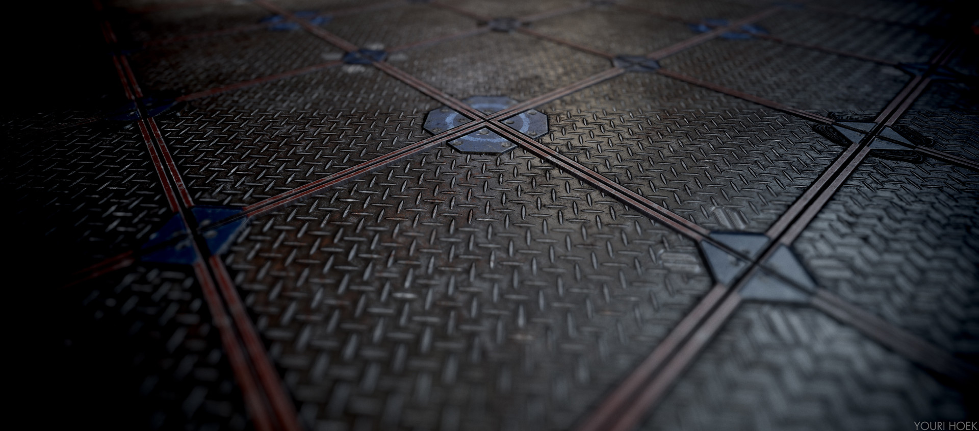 ArtStation - Sci-fi floor tiles, Youri Hoek