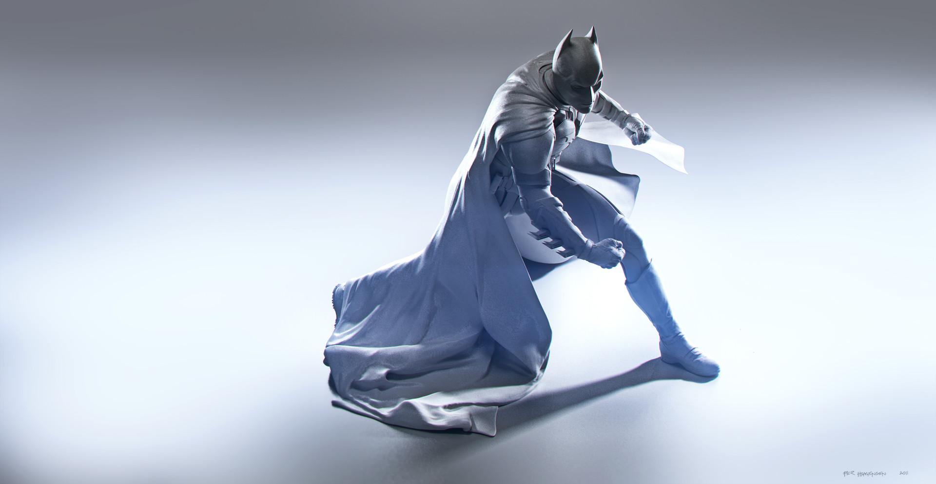 "Batman #1 - ""The Dark Knight Rises"". Digital Sculpture - Clay Render"