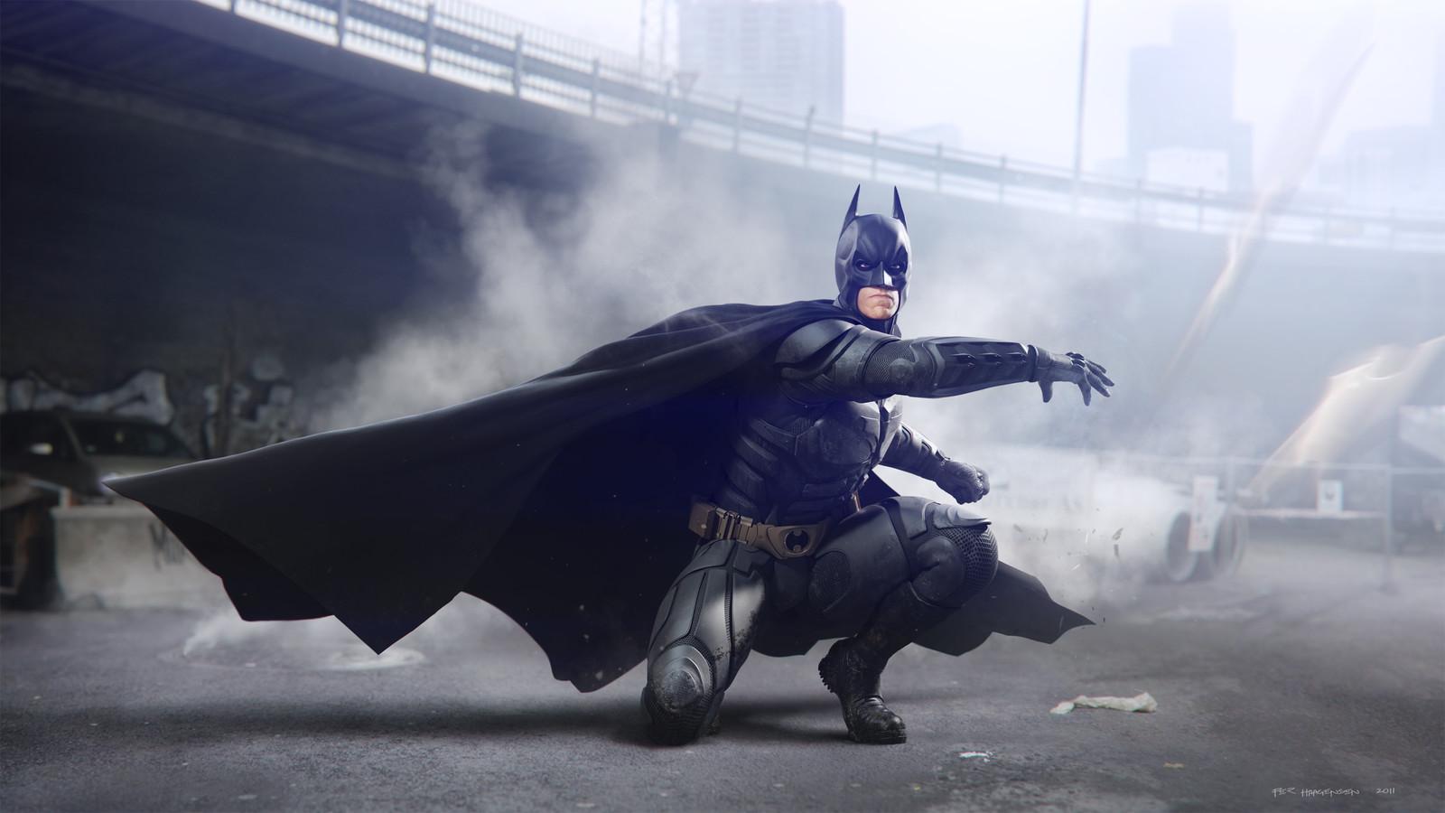 """Batman #4 - Batarang Attack - """"The Dark Knight Rises"""". Final artwork"""
