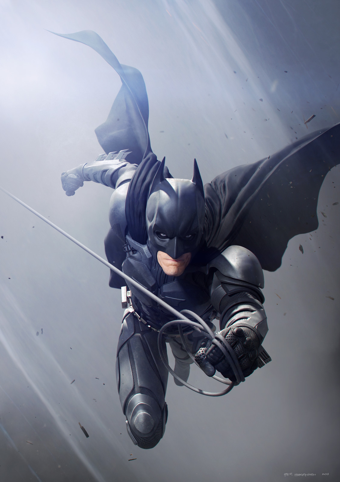 "Batman #5 - ""The Dark Knight Rises"". Final artwork"