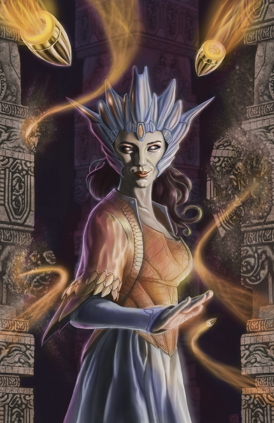 The 5th (though not chronologically) of the Lanesra series, the villain of the story, the as-yet-unnamed Evil Space Queen.