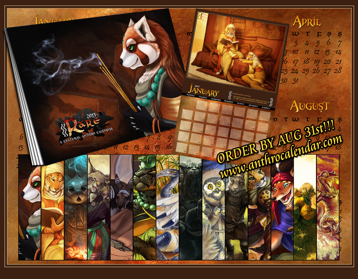 The finished calendar.