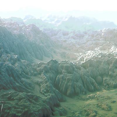 Wyatt reehill terrain mirty mountains cold